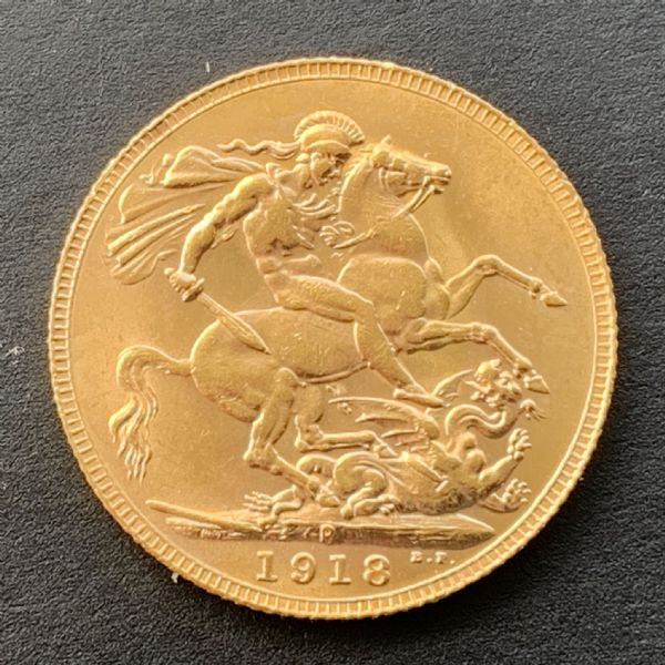 1918 Gold Sovereign Coin Perth
